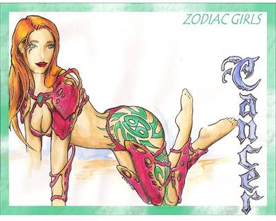 signo zodiacal cancer en dibujo