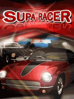 Screenshots of the Supa Racer for java mobile, phone.