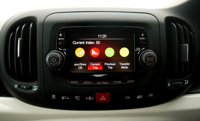 Fiat 500L EcoDrive information screen
