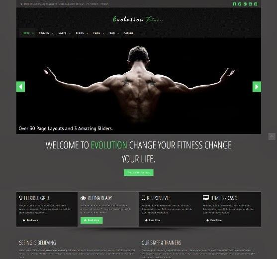 Evolution Fitness Responsive WordPress Theme