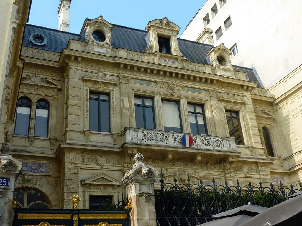 Daniela wurdack l 39 hotel particulier de la marquise de pa va sur les champs elys es for Decoration du facade orleans