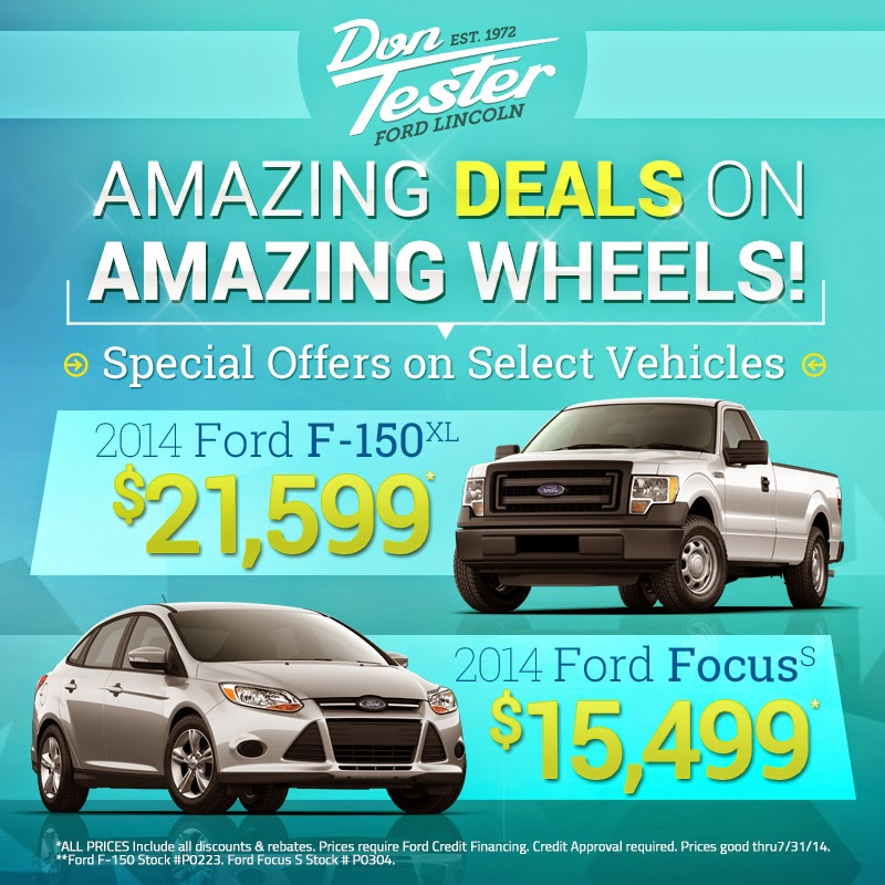 Amazing Deals on Amazing Wheels at Don Tester Ford Lincoln!