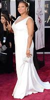 Куин Латифа на Оскари 2013 в бяла рокля с шлейф