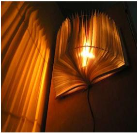 Cara Membuat Kerajinan Tangan Lampu Hias Dari Buku Bekas