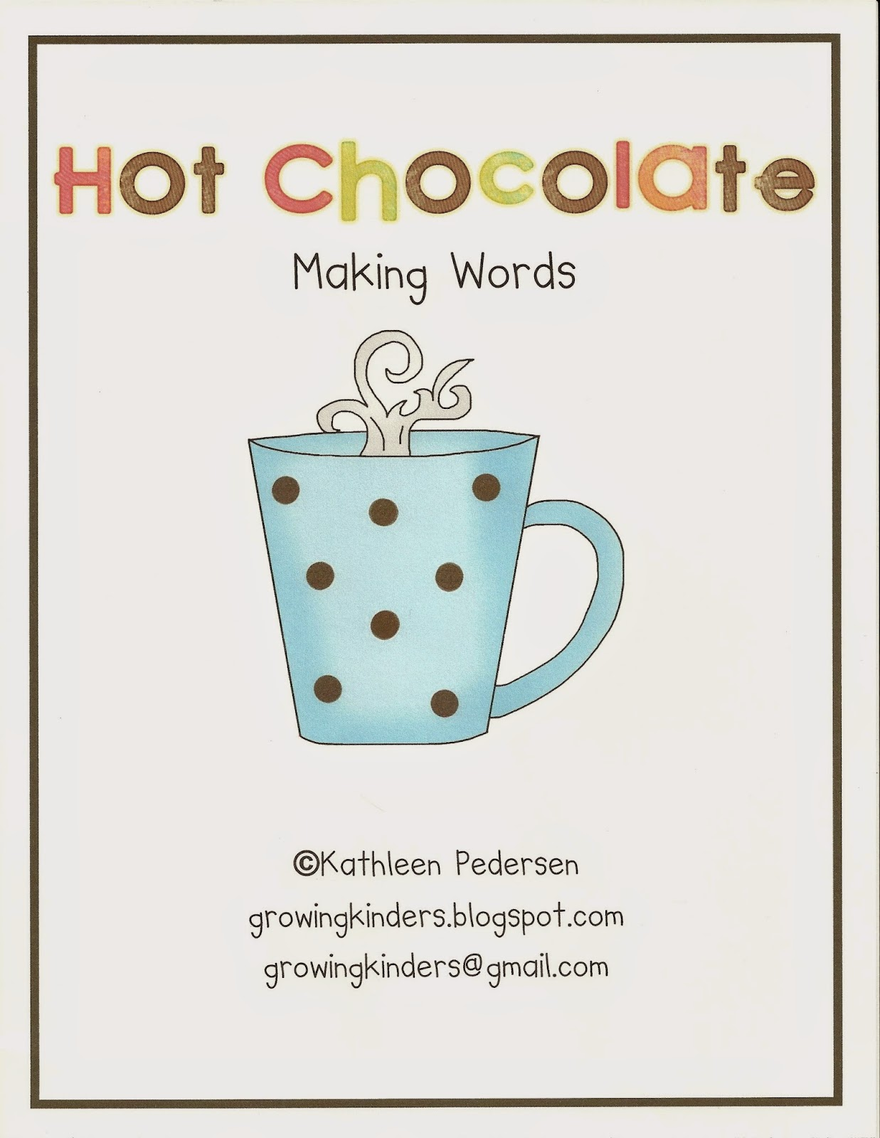 https://www.teacherspayteachers.com/Product/Hot-Chocolate-Making-Words-109355