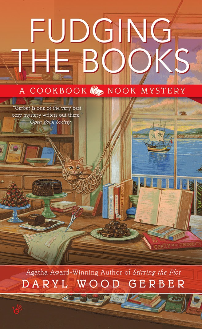 FUDGING THE BOOKS The 4th Cookbook Nook Mystery Is HERE Click To Order