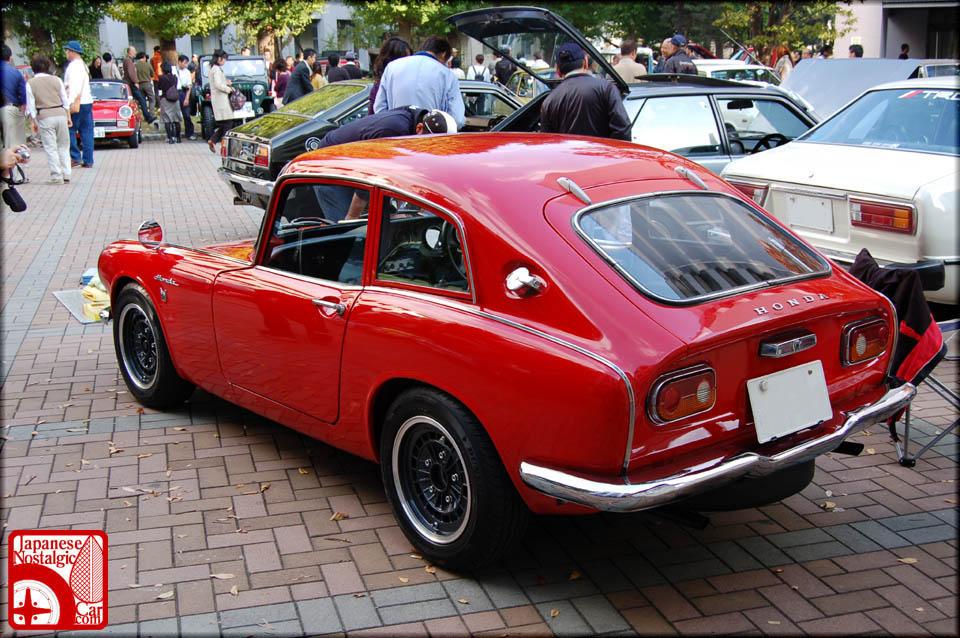 czerwona, Honda S800, coupe, dawne samochody, motoryzacja z lat 60, stare wysokoobrotowe silniki, ciekawe klasyki