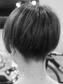 Short Bob with Buzzed Nape