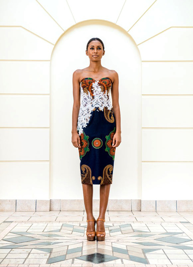 Taibo Bacar's F/W 2013 lookbook- African print- style dress