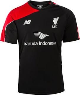 jual online dan gambar phto Jersey training Liverpool warna hitam terbaru musim 2015/2016