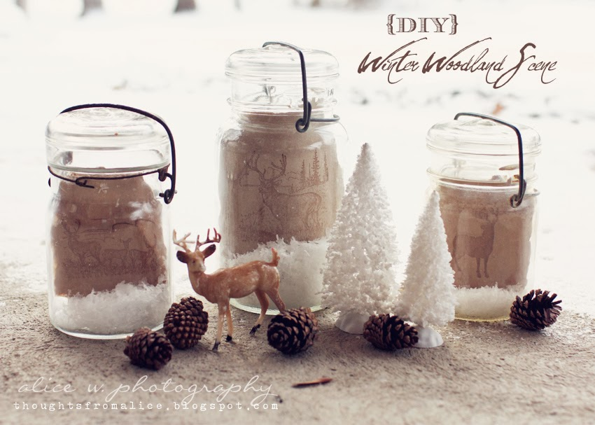 DIY Winter Woodland Scene