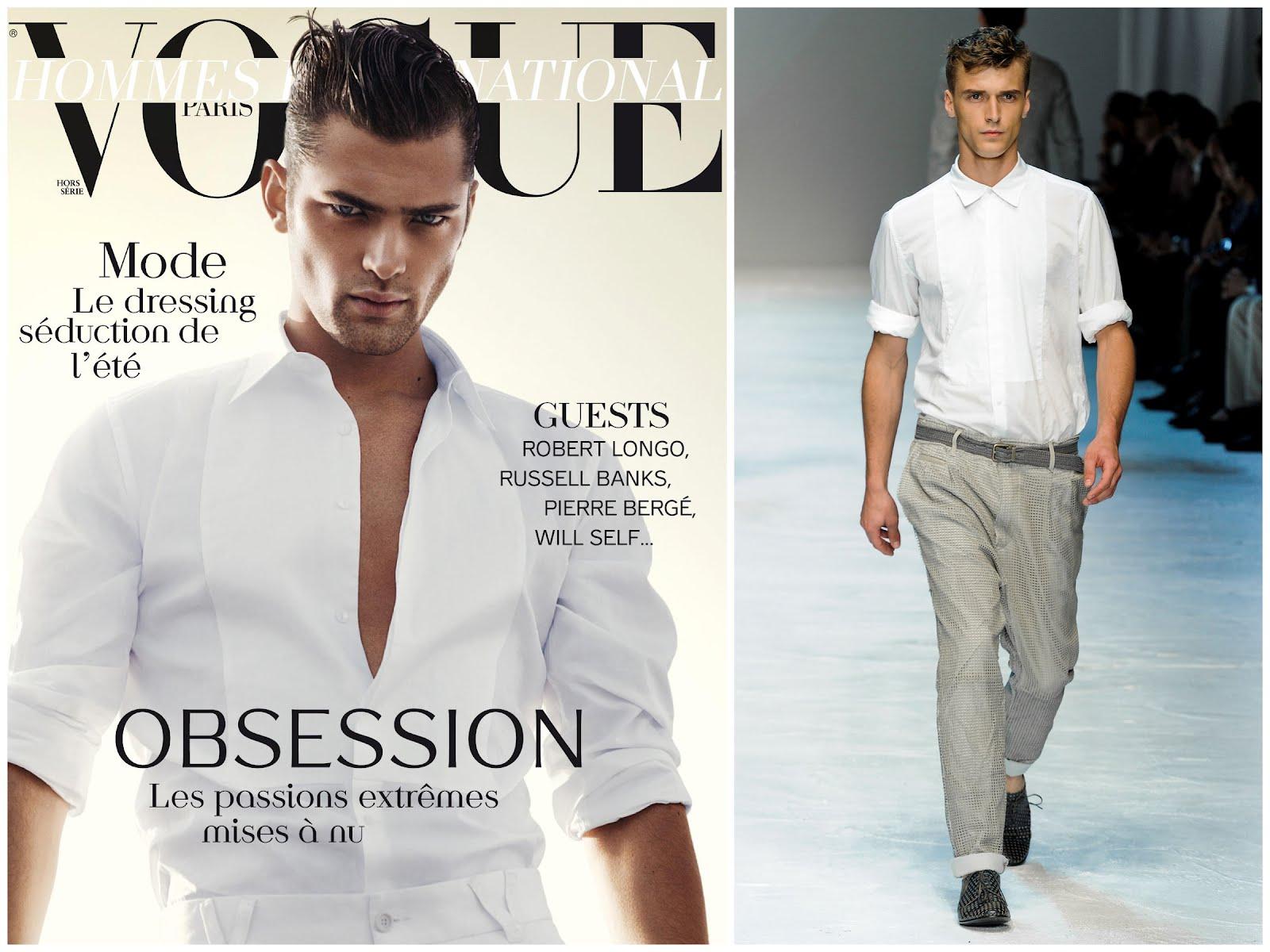 a7b74ae3a57c What s he wearing   Sean O Pry in Dolce   Gabbana - Vogue Hommes ...