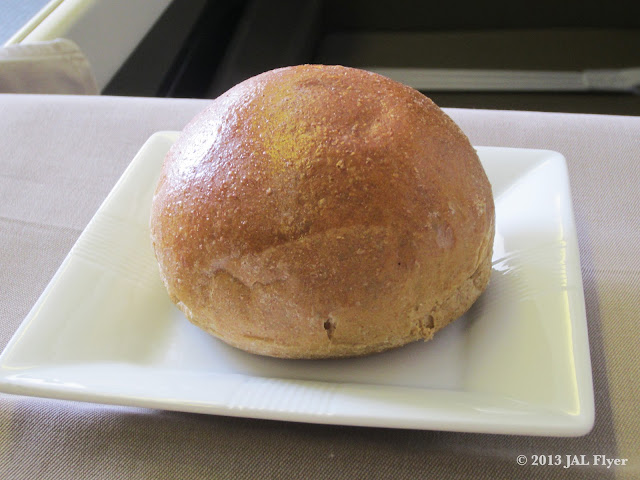 JAL First Class trip report on JL005 - Fresh bread
