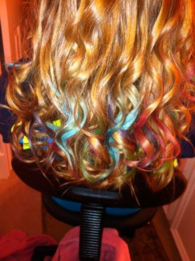 teñir puntas del pelo