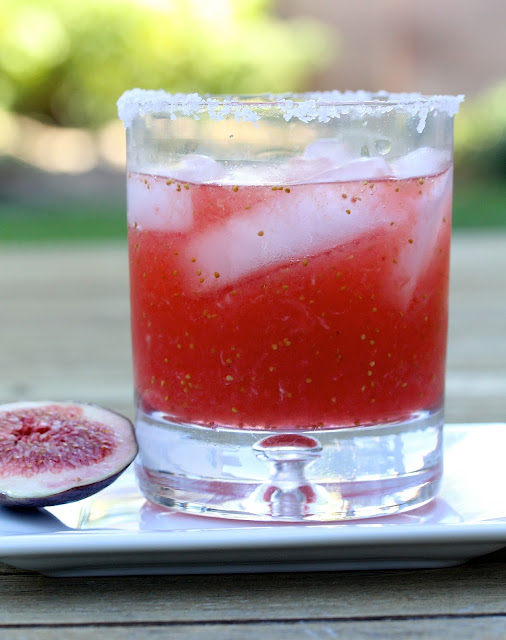 Fresh fig margarita