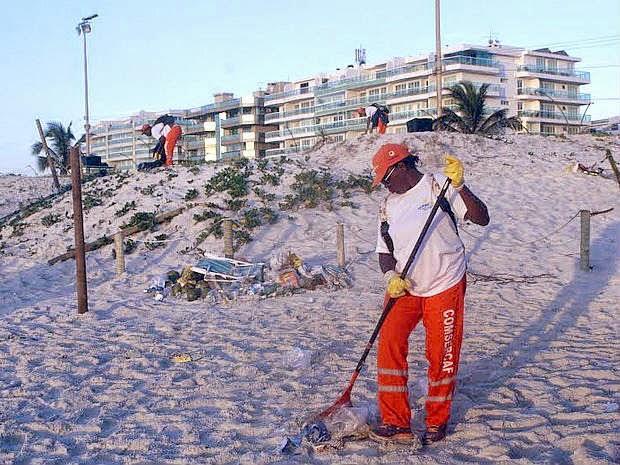 Em Cabo Frio mais de 800 toneladas de lixo são recolhidos após Réveillon
