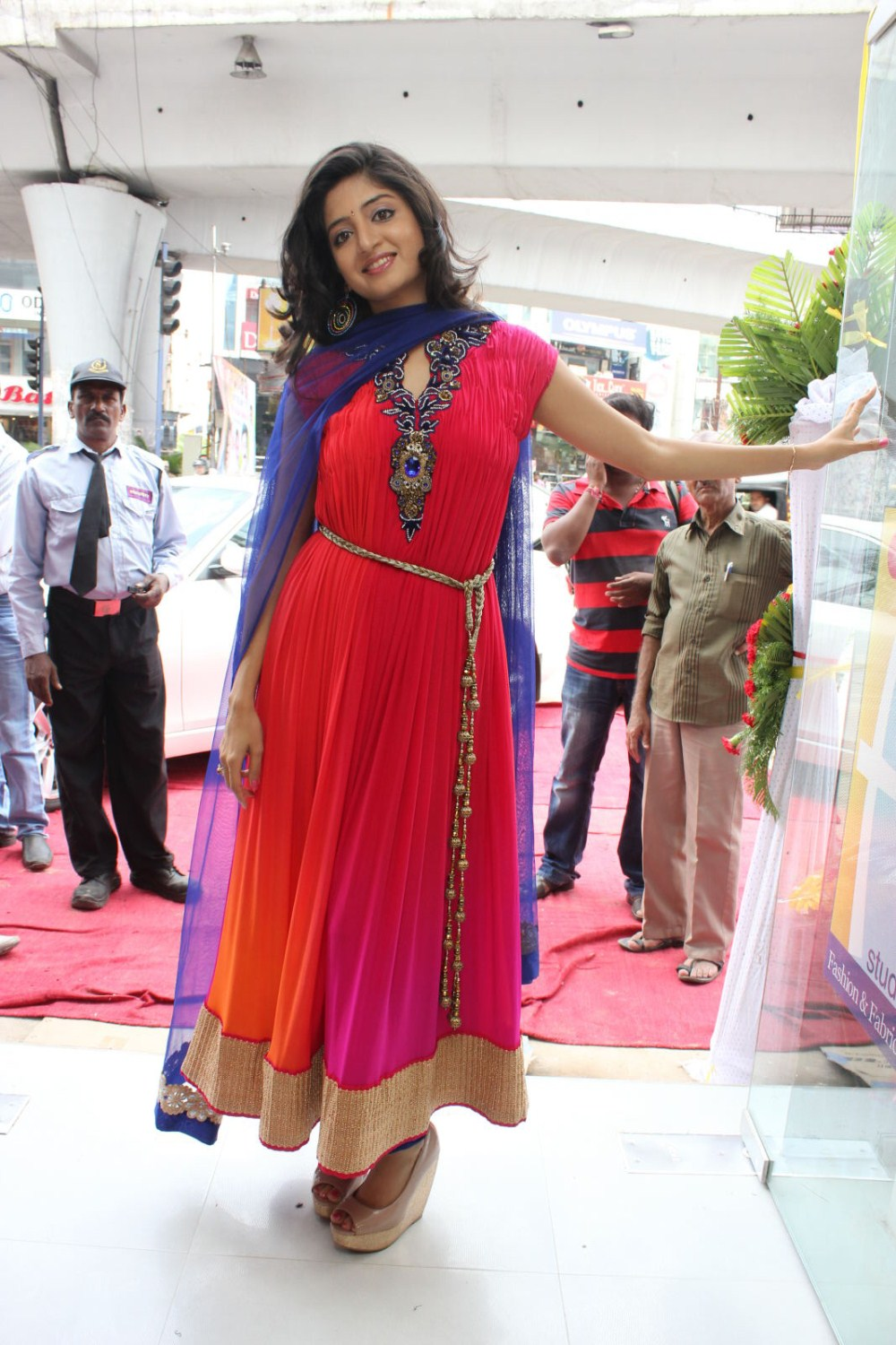 Poonam Kaur Pictures in Red Salwar Kameez at F Studio Fashhion Launch  0051.jpg