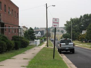 hill towards cemetery