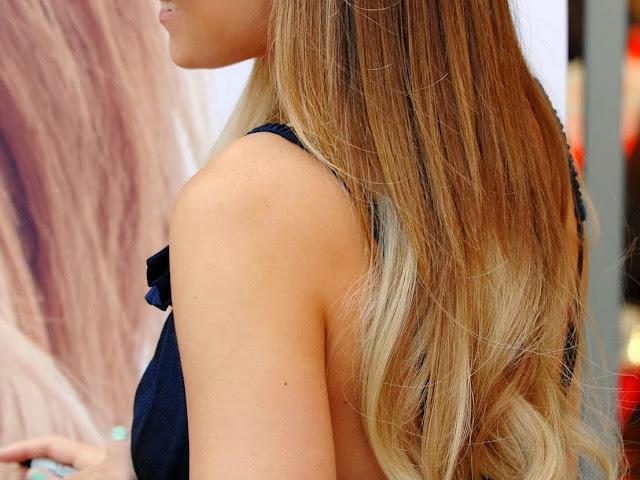 Lauren Conrad hair, FashionFake, hair extensions, dip dye hair