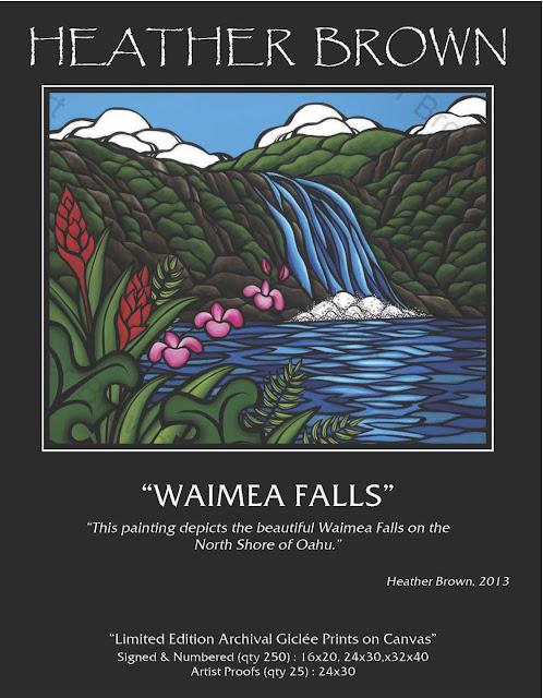 tropical art hawaii flower art heather brown fine art