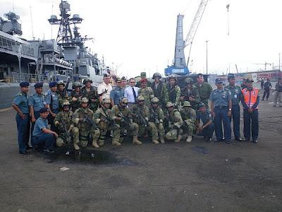 Foto Latihan Bersama Kopaska Dan Pasukan Khusus AL Rusia di KM Multi Prima-1