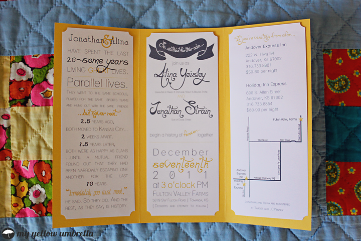 DIY Wedding Invitations Programs and Comment Cards