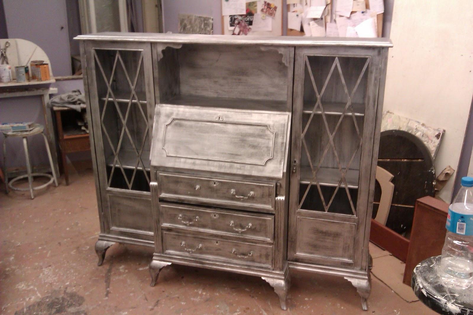 Candini muebles pintados nuevos y redecorados muebles r sticos a medida sant gervasi galvany - Muebles pintados en plata ...