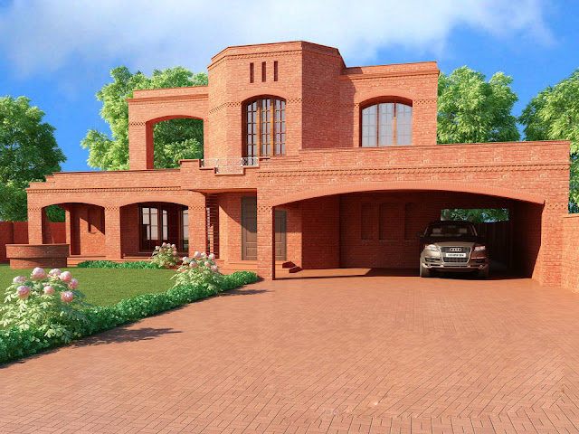 Front Elevation of Houses in Lahore Pakistan
