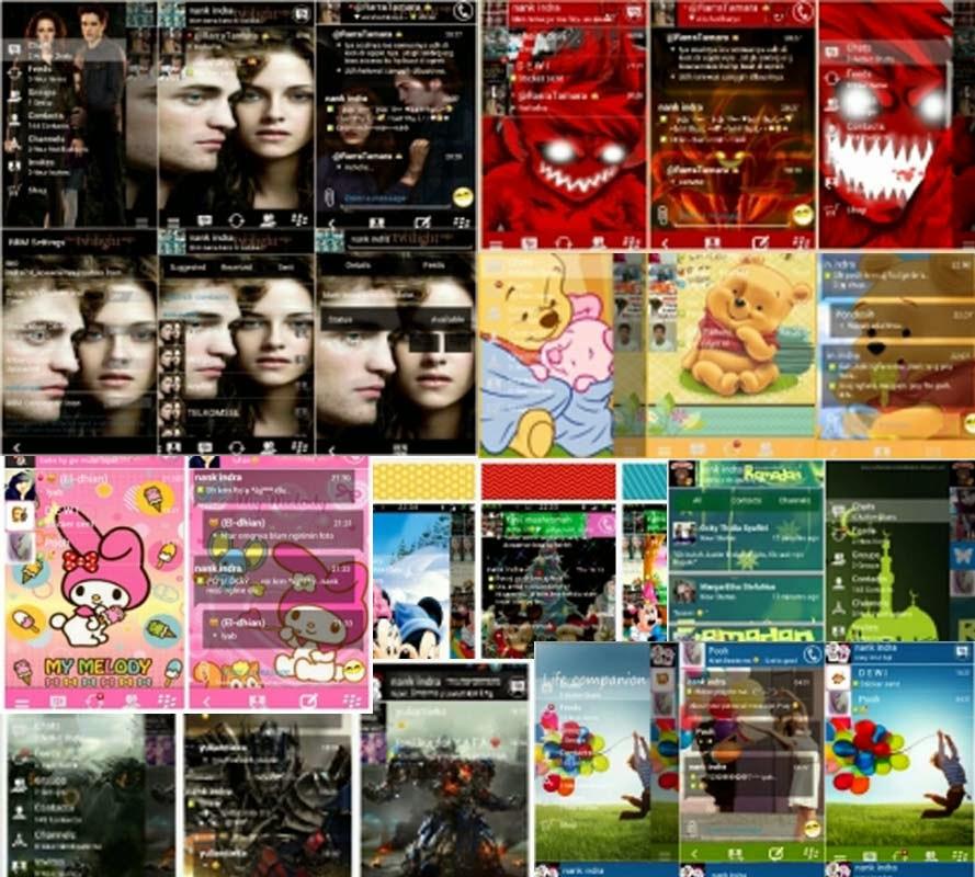Tema themes BBM Mod download stiker versi terbaru
