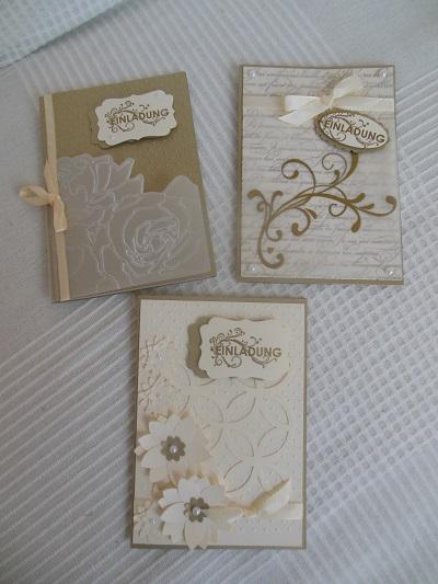 Petra s bastelideen einladungskarten zur goldenen hochzeit - Hochzeit bastelideen ...