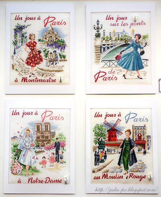 les brodeuses parisiennes, парижские вышивальщицы, атмосфера творчества, veronique enginger, один день в Париже Мост Александра III