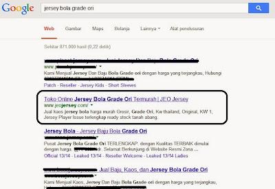 Contoh Hasil Pencarian 10 Besar Google