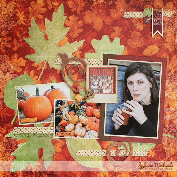 Fall Time Layout by Juliana Michaels
