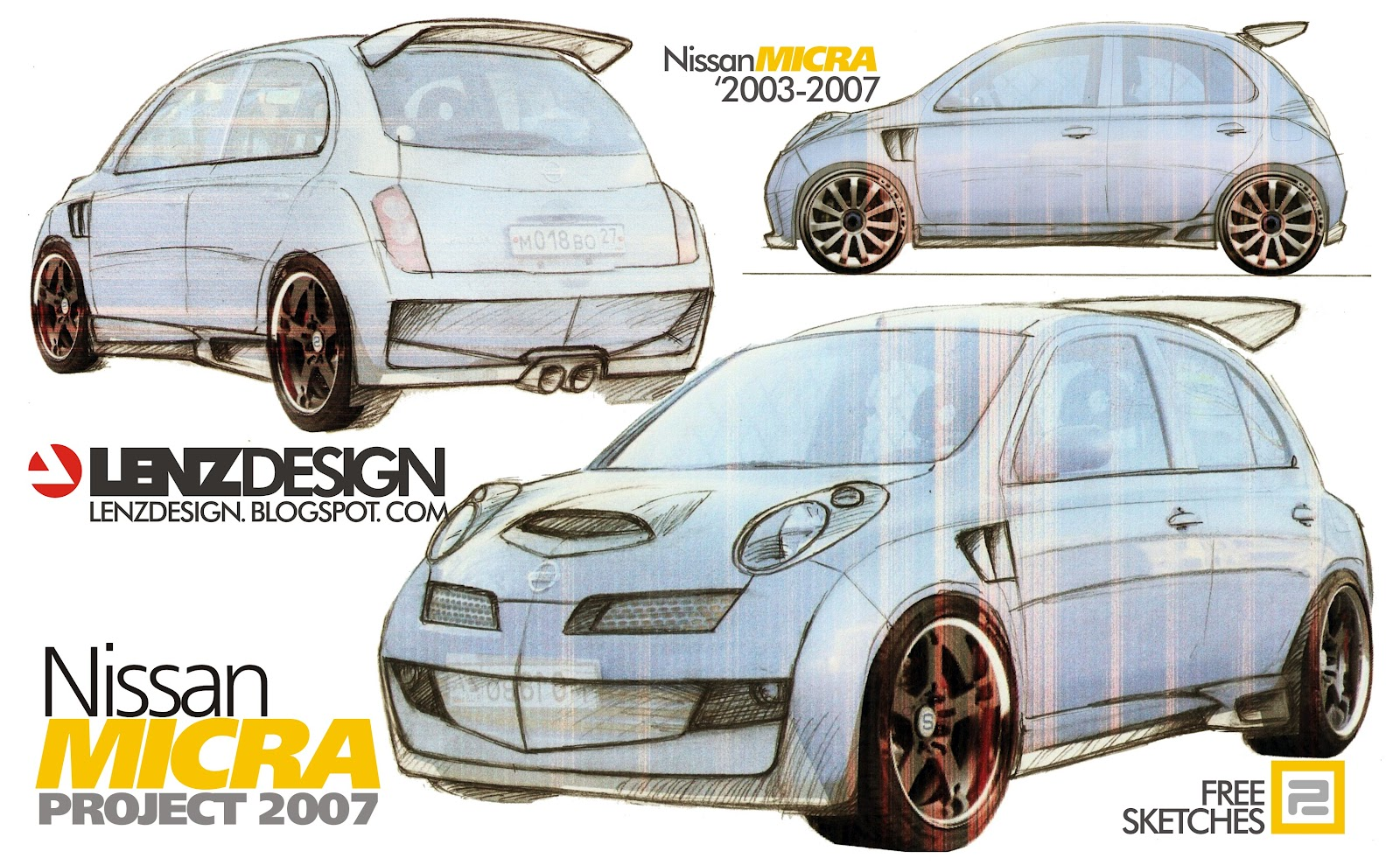 ... на заказ: Nissan Micra Tuning Concept 2007 by Lenzdesign