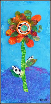 Eric Carle - fleurs de récupération en MS