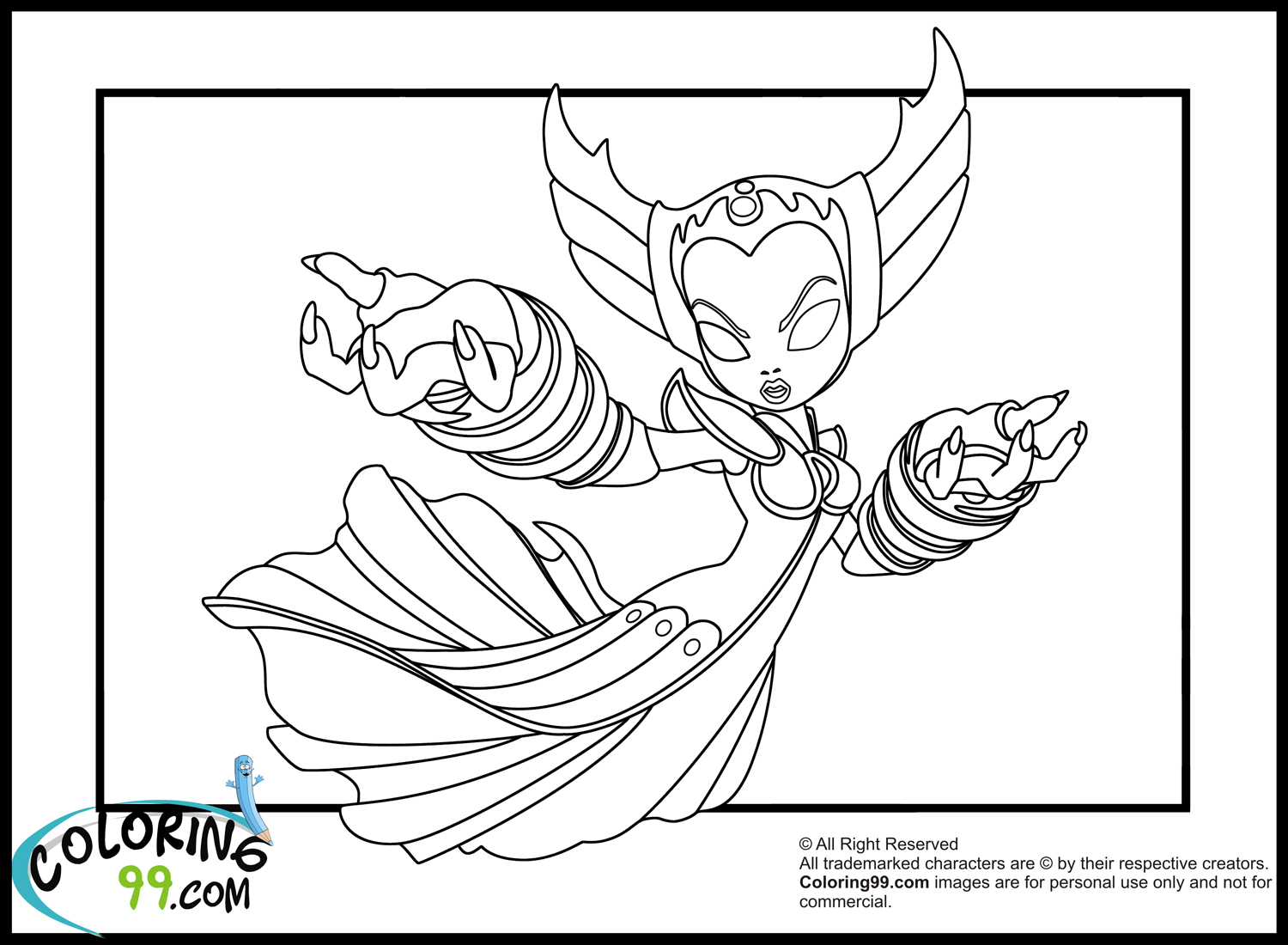skylander food fight coloring pages - photo#4