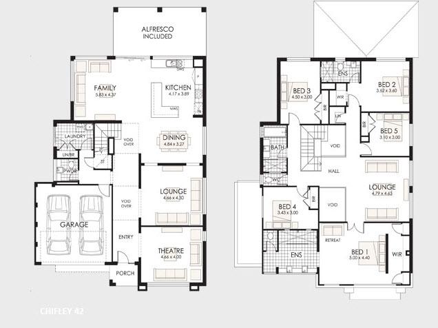 Planos de casas de dos pisos construye hogar for Planos de casas minimalistas grandes