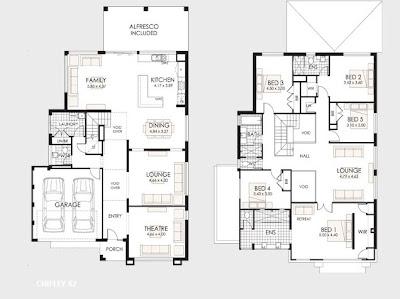 Planos de casas de dos pisos construye hogar for Casas minimalistas planos arquitectonicos