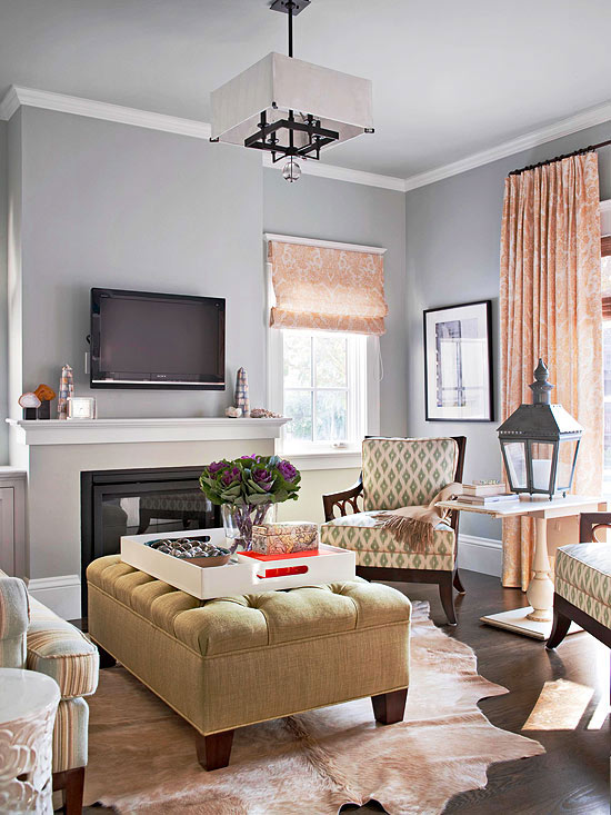 all for a variety of small accessories in this stylish living space