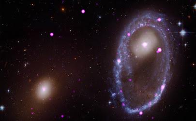 برخوردی که یک حلقه پرتو X برای یک کهکشان پدید آورد