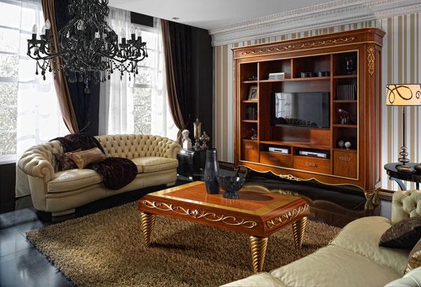 Uni n fabricantes de tresillos muebles de canella en for Tresillos clasicos