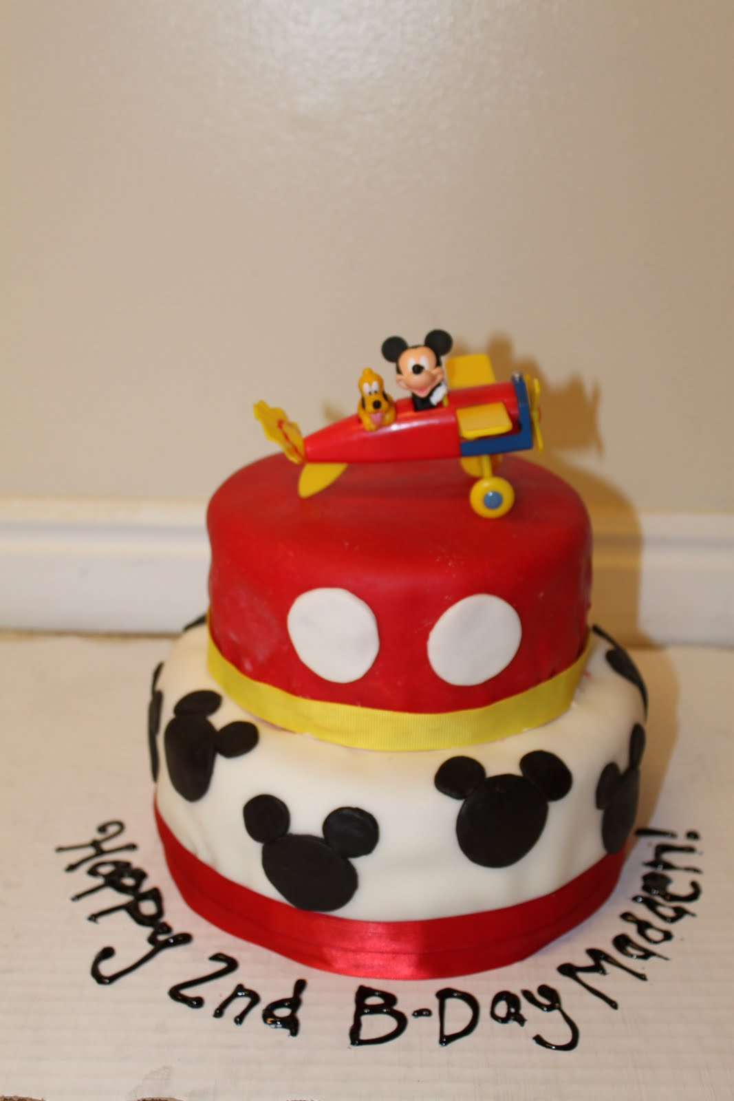 Connu Vanessa's Cake Designs: Mickey Mouse Cake AH49