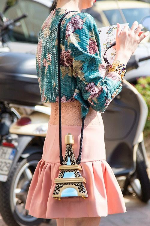 Romantic Parisian style with Eiffel Tower Bag