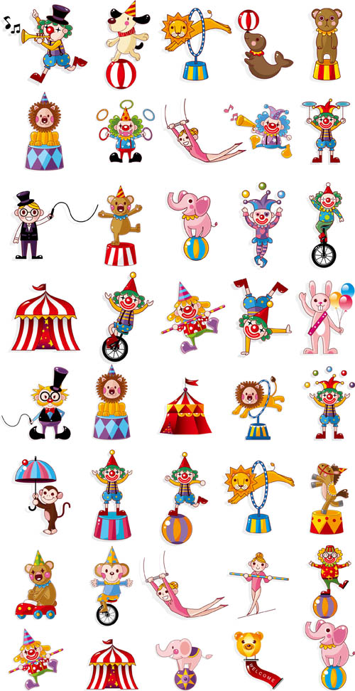Circus Big Vector Pack