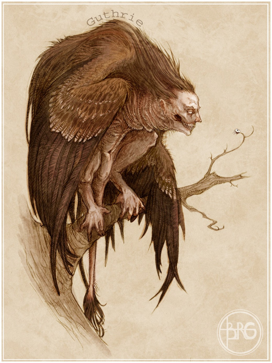 The Harpy por GuthrieArtwork