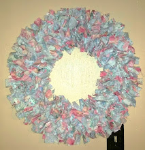 FLORAL COTTAGE SHABBY CHIC RAG WREATH