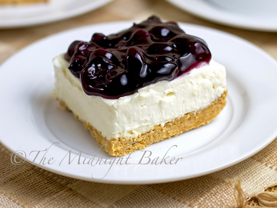 No-Bake Blueberry Cheesecake With Graham Cracker Crust Recipes ...