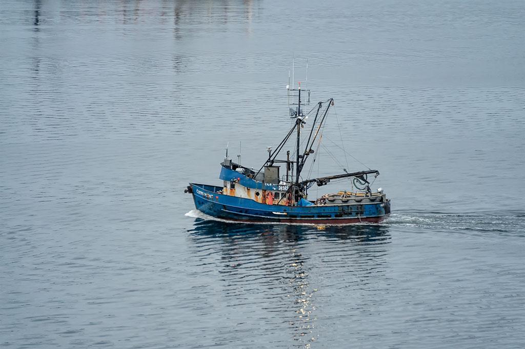 Fishing Boat Sailing out of Ketchikan Harbor