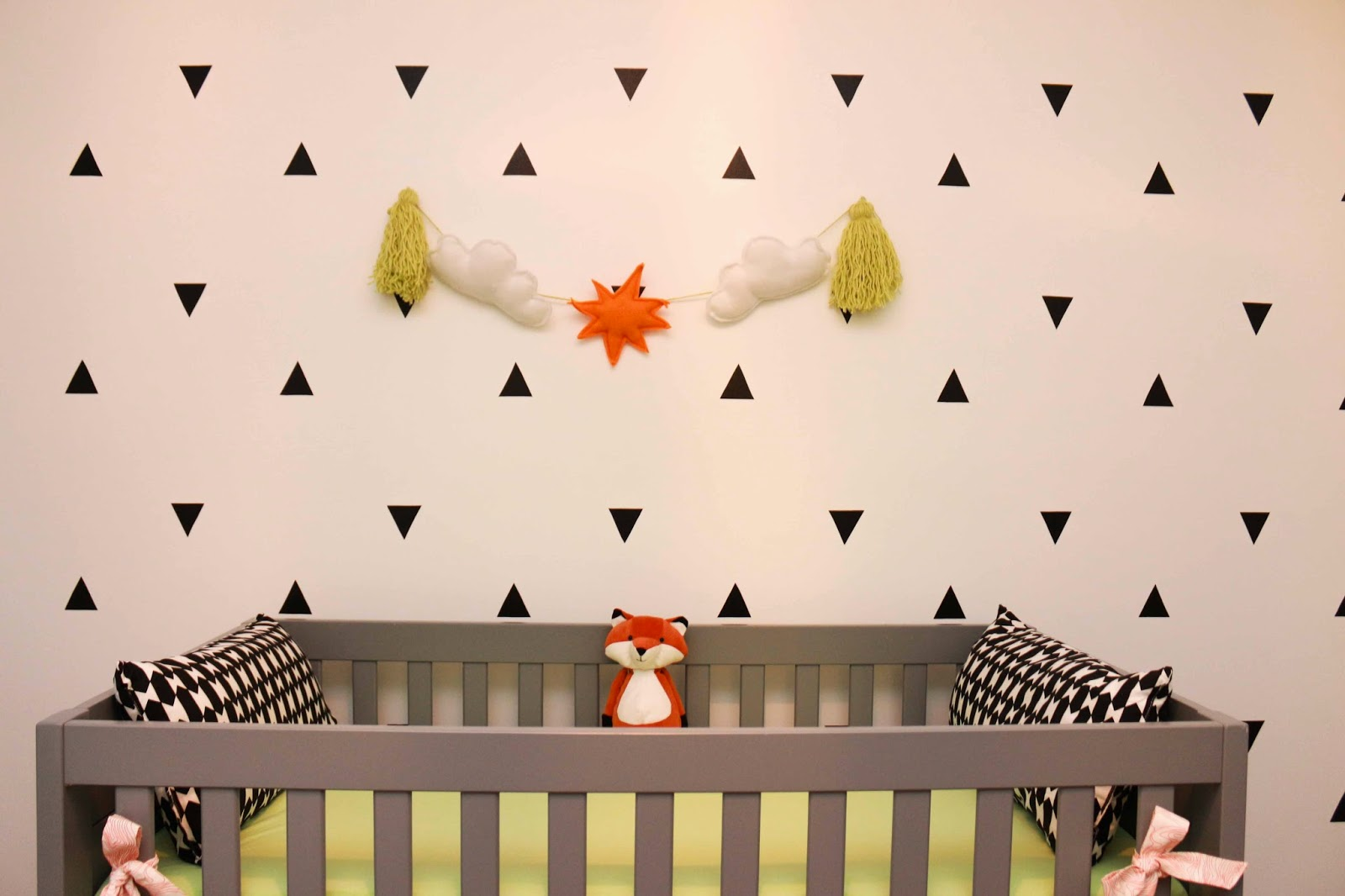 Mint and Tangerine Nursery