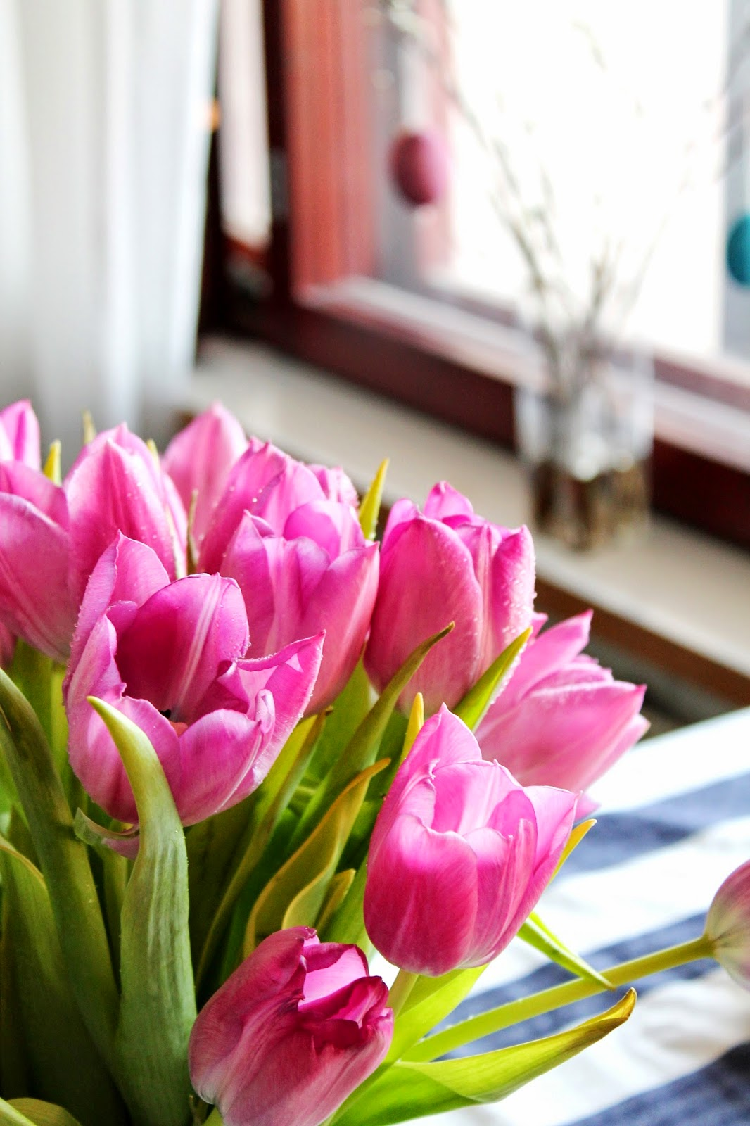 easter flowers, tulips